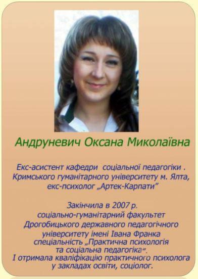 Андруневич Оксана