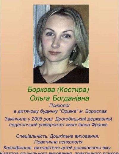 Боркова (Костира) Ольга