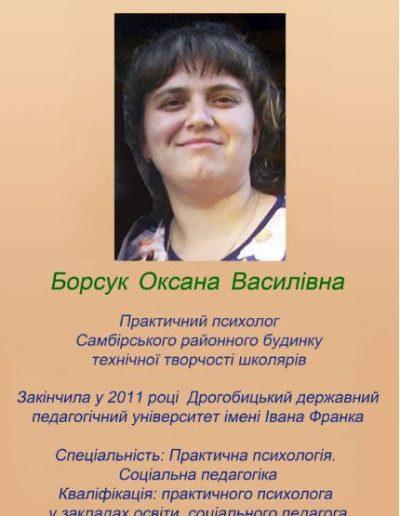 Борсук Оксана